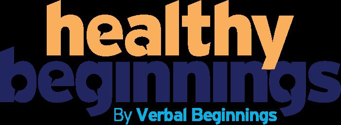 healthy beginnings logo in orange and blue social beginnings social skills